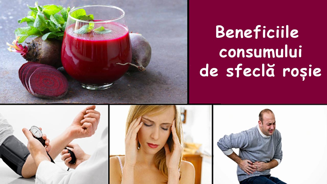 Beneficiile consumului de sfeclă roșie pentru organism